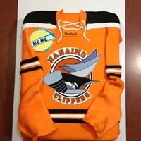 Hockey Jersey Cake Made for the local hockey team!