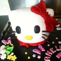 Hello Kitty   Hello kitty head cake, with some cake pops to match!