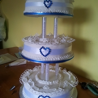 First Wedding Cake i made this 3 tier fruit cake for my son and his fiance