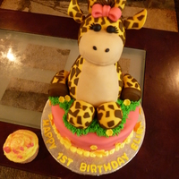 Baby Giraffe Cake Made this for a 1st birthday. The giraffe is made out cereal treats which turned out to be a little to heavy next time I will be sure to...