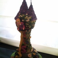 Rapunzel Tower, Based On Disney's Tangled For my Goddaughter Isla's 5th Birthday.
