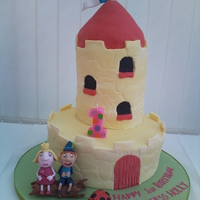 Little Castle Cake Ben and Hollys little kingdom - little castle cake for my daughter Holly's 1st birthday.