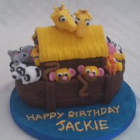 Noahs Ark Cake From Debbie Browns book - Easy party cakes
