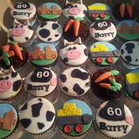 Farm Cupcakes I was asked to make cupcakes for a client that owns a farm and a cattle...I came up with this...