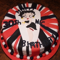 Betty Boop 30Th Birthday Cake