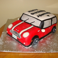 Mini Cooper Birthday Cake