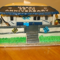 Trailor Cake Replica of my grandparents trailor for thier 60th anniversary.