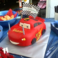 Cars Cake Lightning McQueen cake made at the last second for a good friend's son. He loved it.