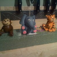 "Zoo Animals Fondant zoo animals for a little boy's 1st birthday cake :) I already made a smash cake for him, with animal ""decals"" on the..."