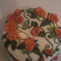 Roses Buttercream frosted. Obviously, we were learning roses today! I had fun!