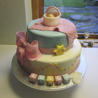 My First Cake For Baptism This was for a girl. Lucca Maria :-)Pretty name i think.