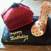 Birthday Cake For A Friend All cake with fondant, except for the shoe, which is all gumpaste. All edible!