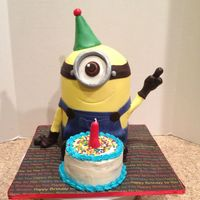 Minion Cake   Made this for my soon to son-in-law!