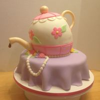 Teapot And Table Cake Made this for a sweet lady turning 94 years old! She was so excited! It's all cake!