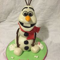 Olaf Birthday Cake Made this for my grand daughters first birthday. It's all cake.