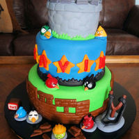 Angry Bird Cake My grandson's Angry Bird cake for his 4th birthday.