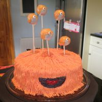 Hairy Monster I based this cake on cakeboxgirls Flikr picture- it was a lot of fun to make.