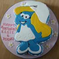 Smurfette Birthday Cake This cake was horrible to do as Mother Nature decided to provide the UK with the hottest and most humid day of the year which made the...