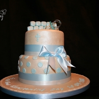 Beau Two tier Madeira sponge, Ivory fondant and a dotty finish