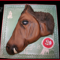 Horse I got a lot of pleasure making this one, Vanilla sponge with Raspberry buttercream and covered in fondant. No air brush (YET) that's...