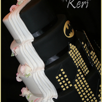Holy Matrimony Batman Four tiers of Vanilla and chocolate layers, covered with fondant. Half tradition and half Batman. I absolutely loved making this. It was...