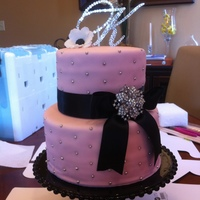 Princess Baby Shower Cake With Diamonds This was for a princess themed baby shower. The mother to be wanted to incorporate diamonds in the cake. The bow is black ribbon with...