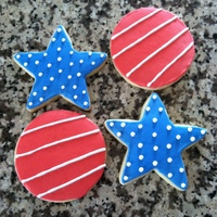Starts And Stripes Sugar Cookies these are sugar cookies decorated with RI...they were made for a friends' son who just came home from Afghanistan...also perfect for...