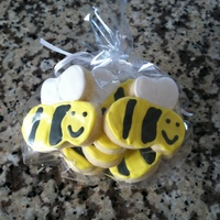 "Bumble Bee Cookies this is a little favor bag of ""bumblee bee"" sugar cookies iced in RI."