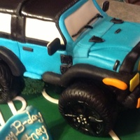Brownie Soccer Field And Brownie Carved Jeep With Peanut Butter Chocolate Buttercream Brownie soccer field and brownie carved jeep with peanut butter chocolate buttercream !