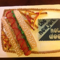 Would Anyone Like A Hot Dog? I was asked to make this for the owner of a local hot dog shop for her birthday