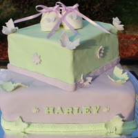 Butterflies & Daisies This cake was designed from bedding that was chosen for the babie sroom