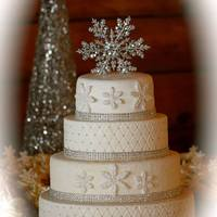 This Was A Winter Wedding Cake I Made For My Sons Friend This was a winter wedding cake I made for my sons friend