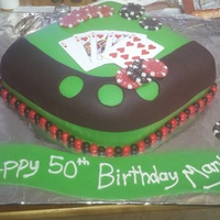 Poker Table Cake Fondant