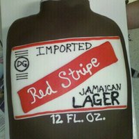 Red Stripe Beer Bottle Fondant