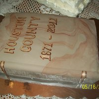 Book Cake Chocolate Cake with Fondant over Creamcheese icing.