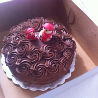 Butter Cake With Nutella Frosting This Was My First Time Making This Frosting Boy Was It A Hit The Snowmen Are Of Fondant Stabilized With Butter Cake with Nutella frosting, this was my first time making this frosting, boy was it a hit! The snowmen are of fondant stabilized...