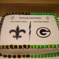 House Divided Grooms Cake