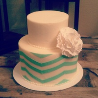 Mint Chevron Cake Mint Chevron Cake