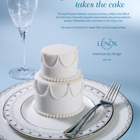 "Mini Wedding Cake For Lenox China At Lenox.com What an honor it was to be asked by one of the finest china companies to create a mini wedding cake for their ""Iced Pirouette..."