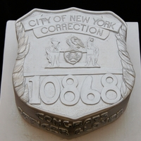 Ny Correction Office Badge 3D Cake NY Correction Office Badge 3D Cake