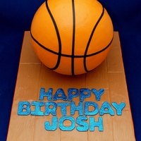 3D Basketball Cake For Joshs Celebration Party At Lavo Nyc 3D Basketball cake for Josh's celebration party at LAVO NYC