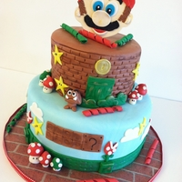 Super Mario Brothers Cake was made for a special boy who loves Mario! He was so excited. :)