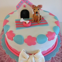 Chihuahua Cake!   A cake I donated to Wish Upon A Birthday cake, an organization that donates cakes to needy families.