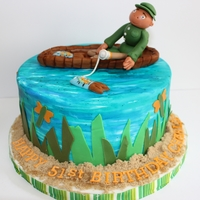 Fishing Theme replica of a cake seen online !! Thanks for the inspiration !!