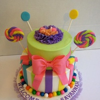 Candy Land Theme Baby Shower Cake Candy land theme baby shower cake