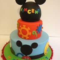 Mickey Mouse Club House Cake Mickey Mouse club house cake