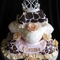 Animal Print 1St Birthday I've been planning this cake since February and I have been equally nervous since then. My first pillow cake and my first leopard and...