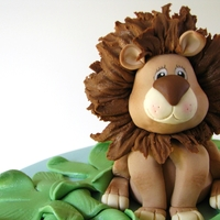 Leo The Lion & Friends  Jungle animals baby shower cake made for a family friend. They just said to do whatever I'd like and incorporate jungle animals, so I...