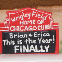 Chicago Cubs Groom's Cake