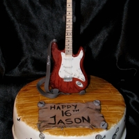 Fender Fender guitar made from gumpaste, hand painted